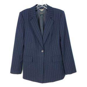 Donna Karan Pin Stripe Long Jacket